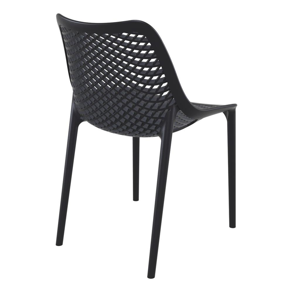 Air Outdoor Dining Chair Black Set of 2. Picture 2