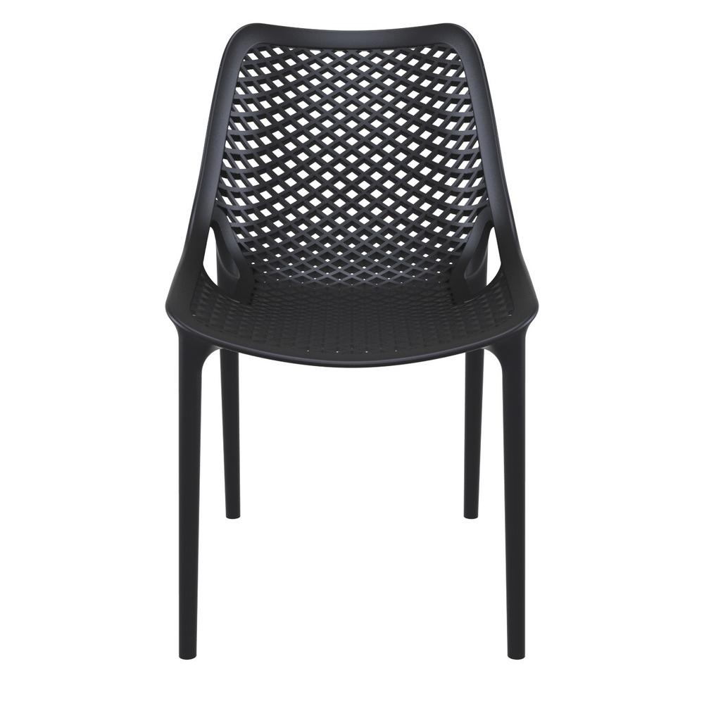 Air Outdoor Dining Chair Black Set of 2. Picture 3