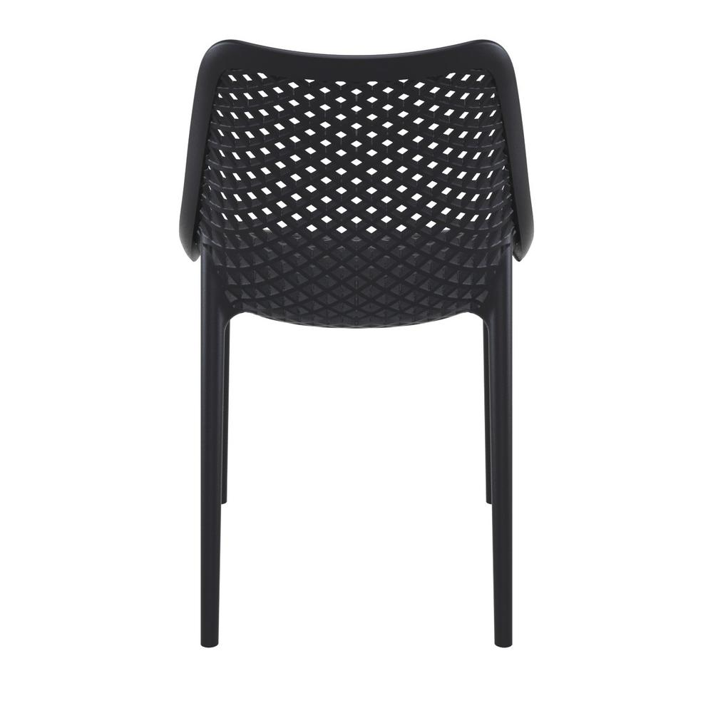 Air Outdoor Dining Chair Black Set of 2. Picture 5