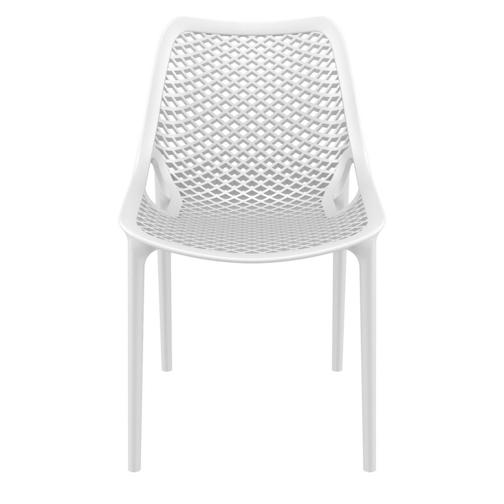 Air Outdoor Dining Chair White Set of 2