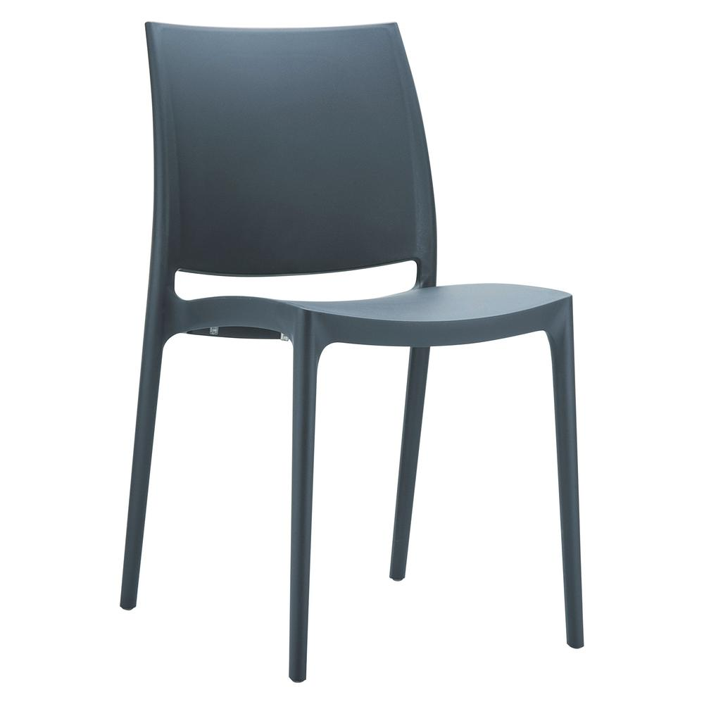 Maya Dining Chair Dark Gray Set of 2. Picture 1
