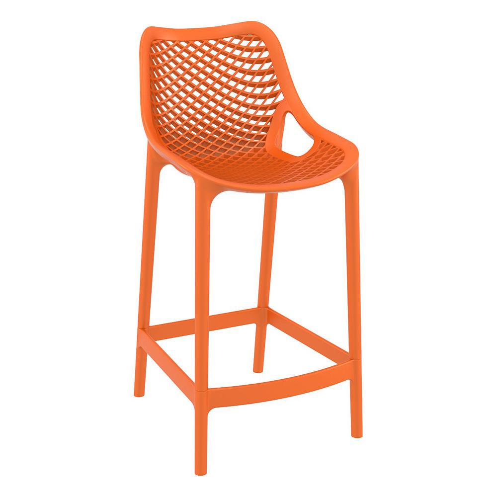 Air Counter Stool Orange Set of 2. Picture 1