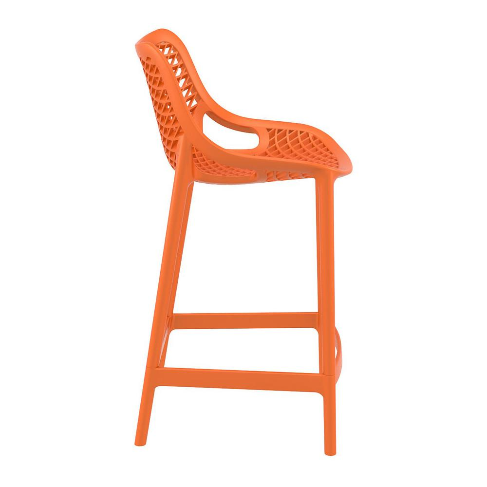 Air Counter Stool Orange Set of 2. Picture 4