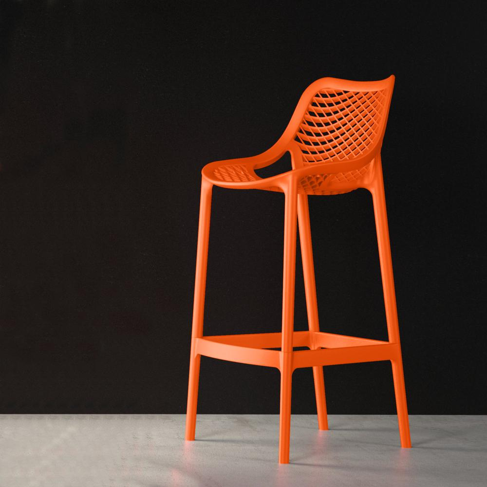 Air Counter Stool Orange Set of 2. Picture 6