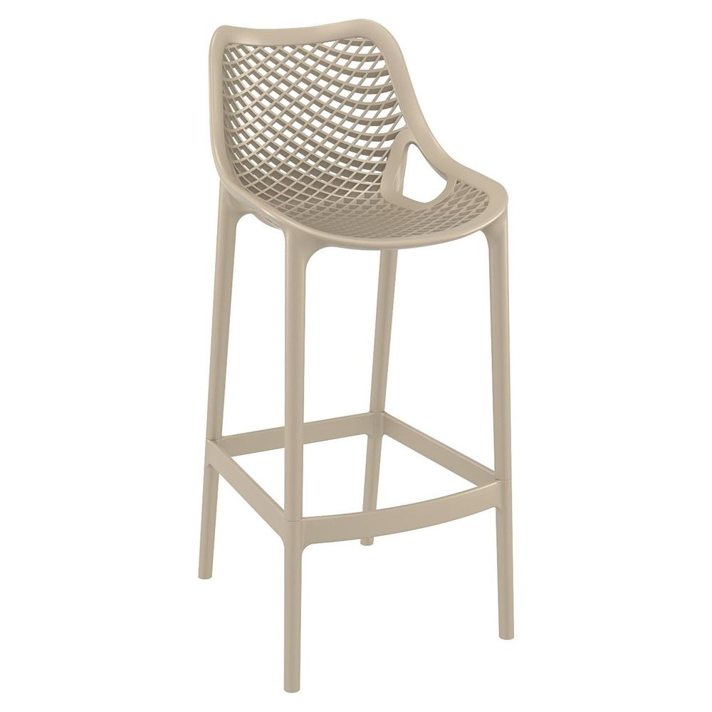 Air Bar Stool Taupe Set of 2. Picture 1