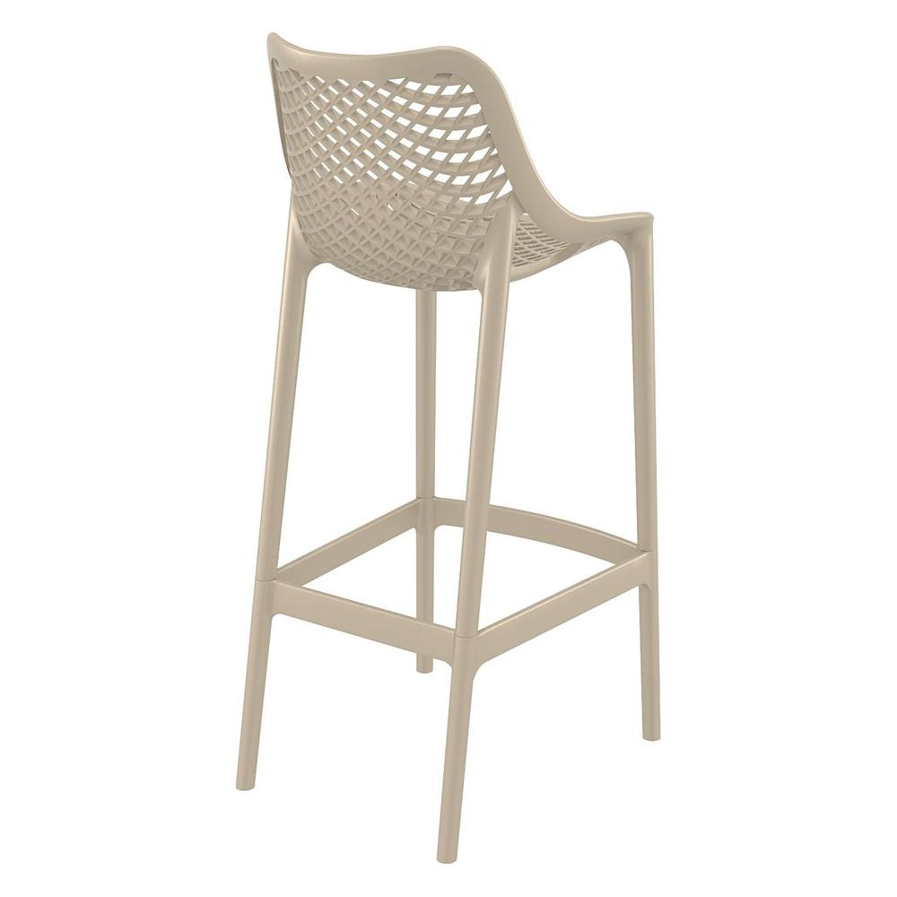 Air Bar Stool Taupe Set of 2. Picture 2