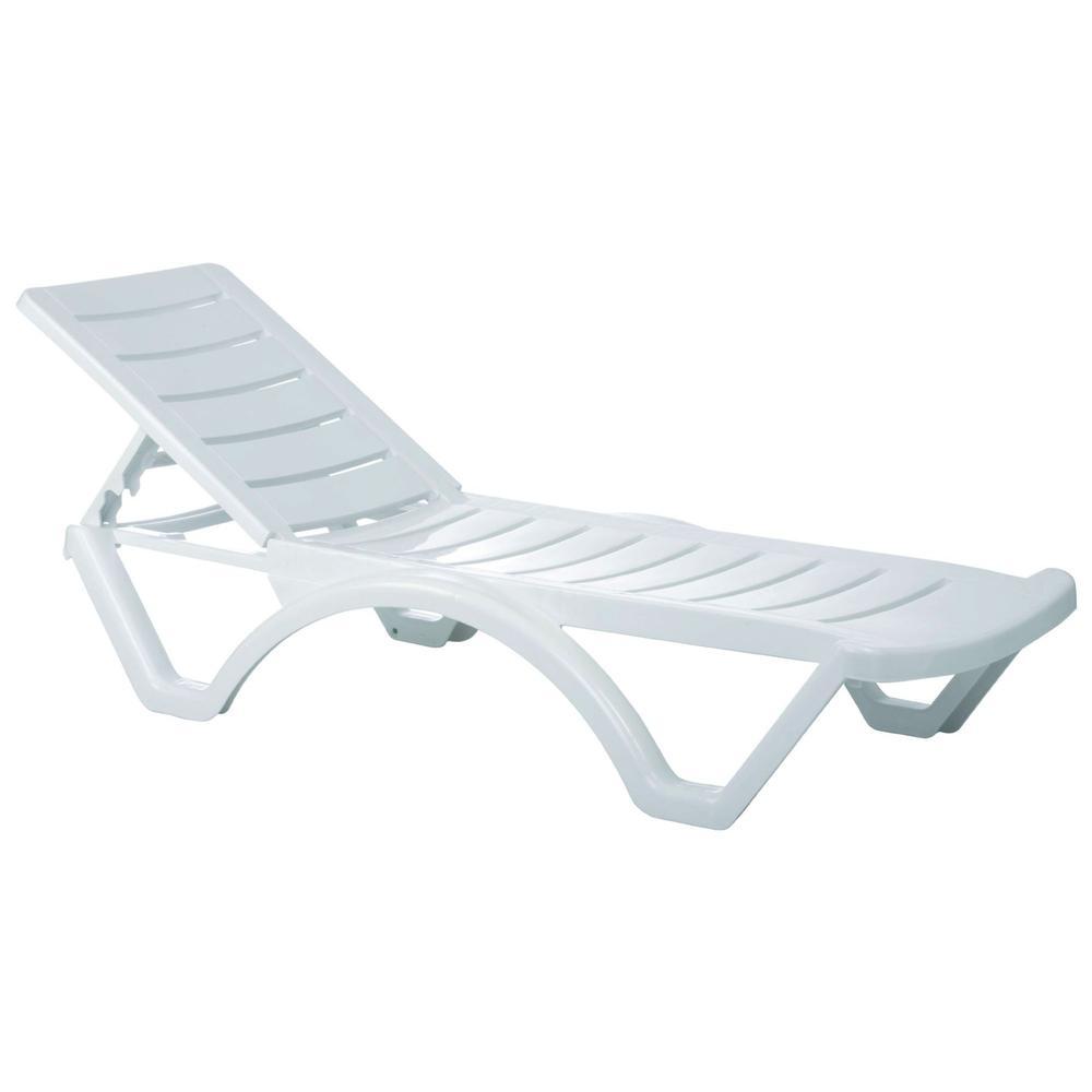 Aqua Pool Chaise Lounge White. Picture 1