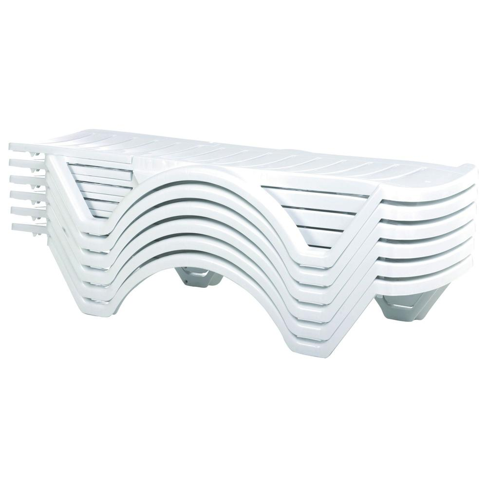 Aqua Pool Chaise Lounge White. Picture 2