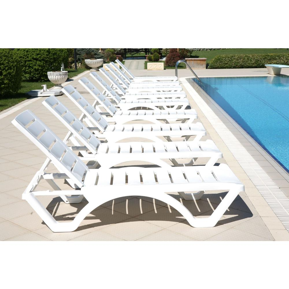 Aqua Pool Chaise Lounge White. Picture 9