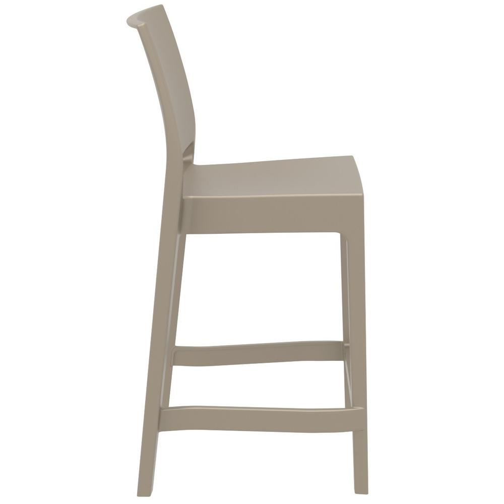 Maya Resin Counter Stool Taupe. Picture 1