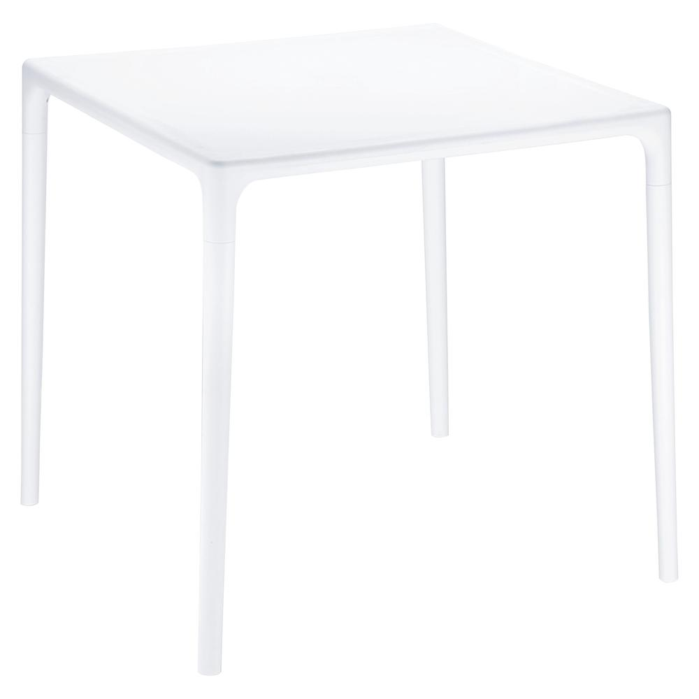 mango square dining table white 28 inch