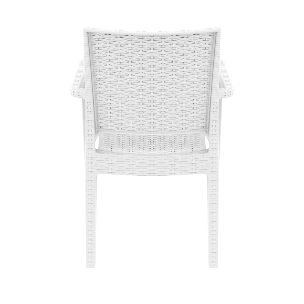 Ibiza Resin Wickerlook Dining Arm Chair White. Picture 7