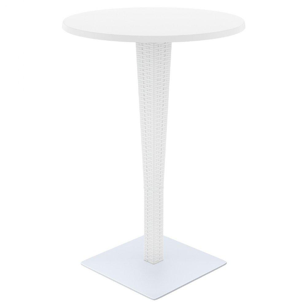 Round Bar Height Table White 27 5 Inch