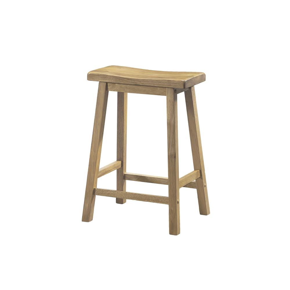 Barstool 2pcs 24 Quot H Natural Saddle Seat