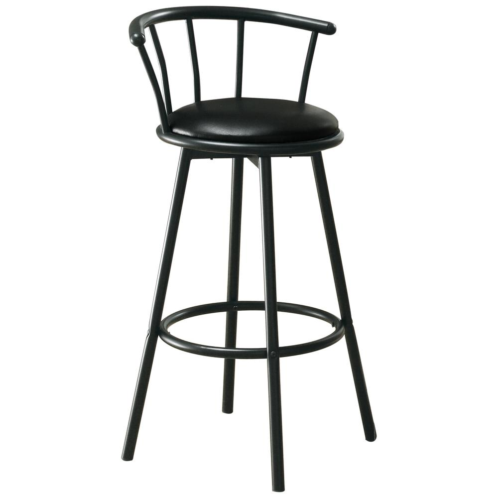 Barstool 2pcs 36 Quot H Swivel Black Metal
