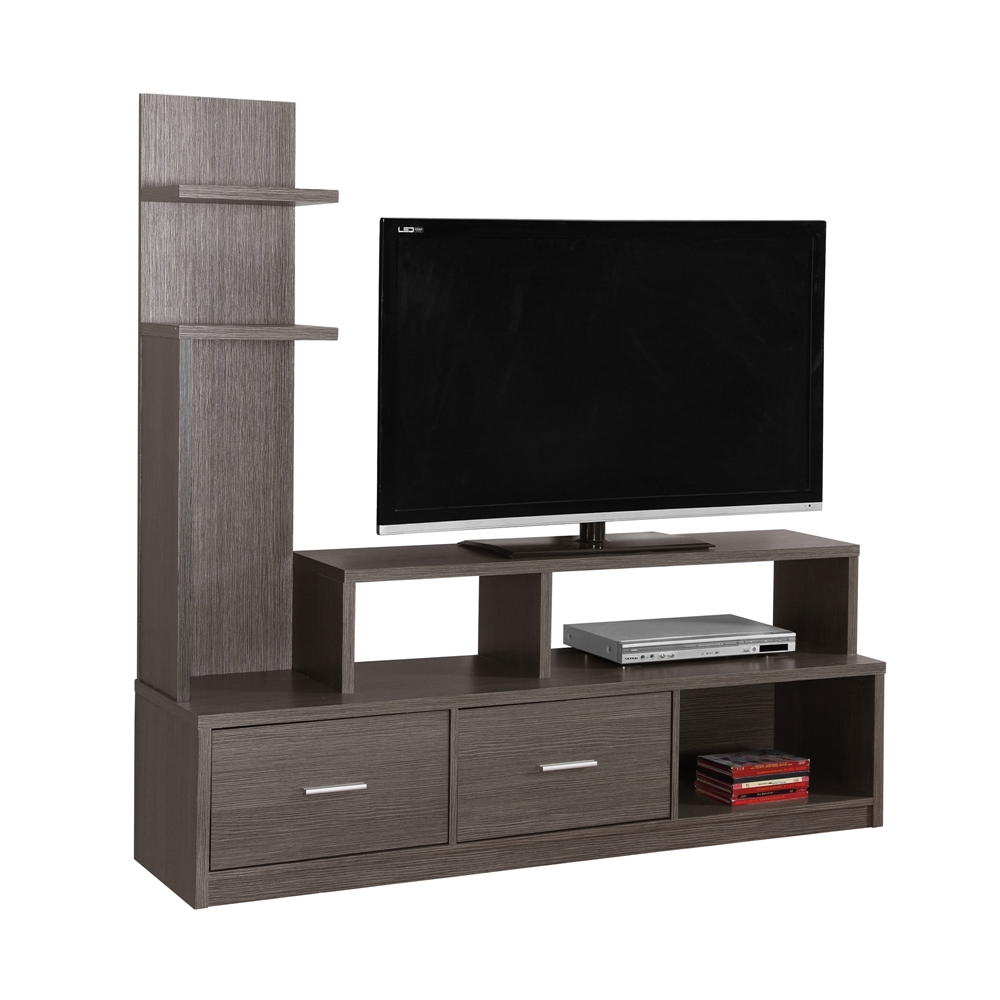 Tv Stand 60 Quot L Grey With A Display Tower