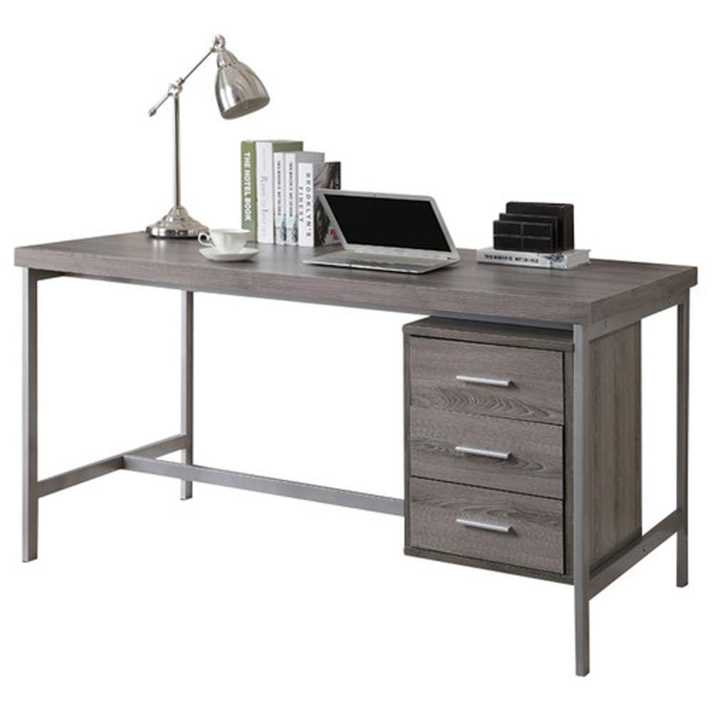 maple cabinets in kitchen computer desk 60 quot l taupe silver metal 7345