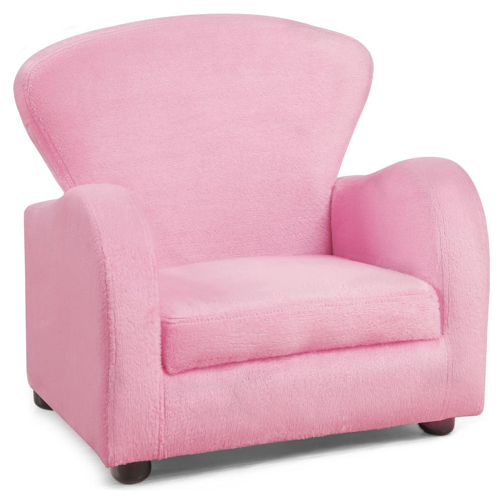 Juvenile Chair Fuzzy Pink Fabric