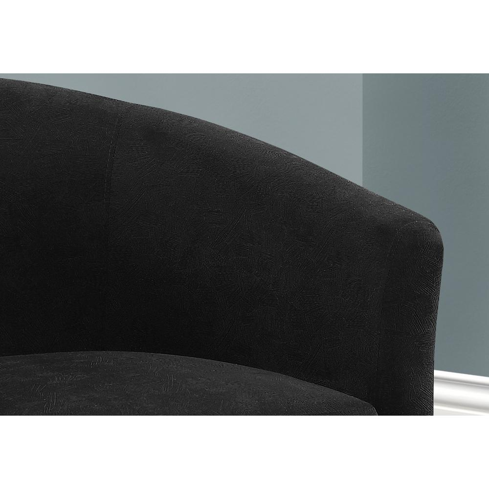ACCENT CHAIR - SWIVEL / BLACK ABSTRACT VELVET. Picture 3