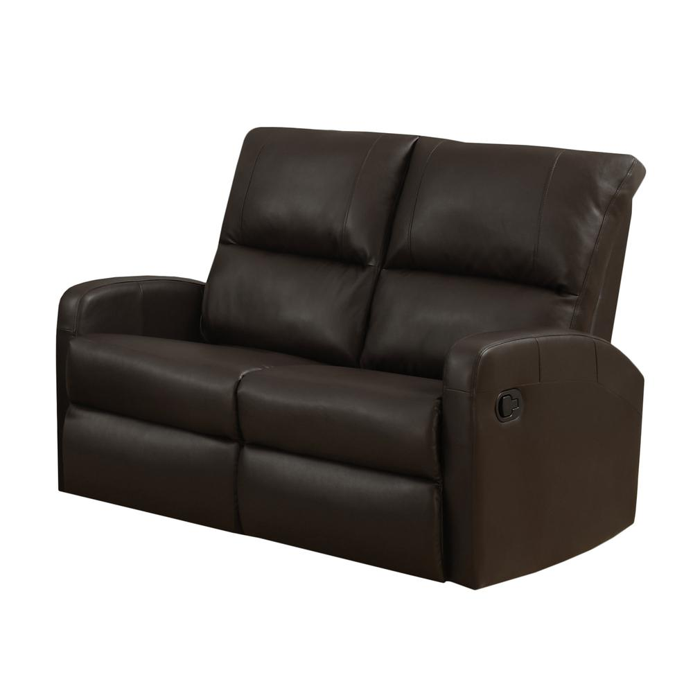 Reclining-Loveseat Dark Brown Bonded Leather