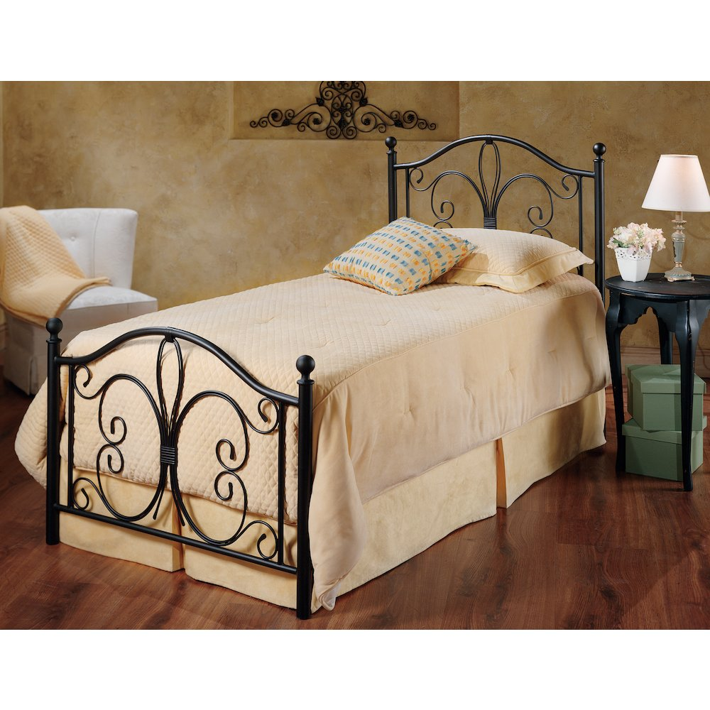 - Milwaukee Bed Set - Twin - W/Rails, Antique Brown