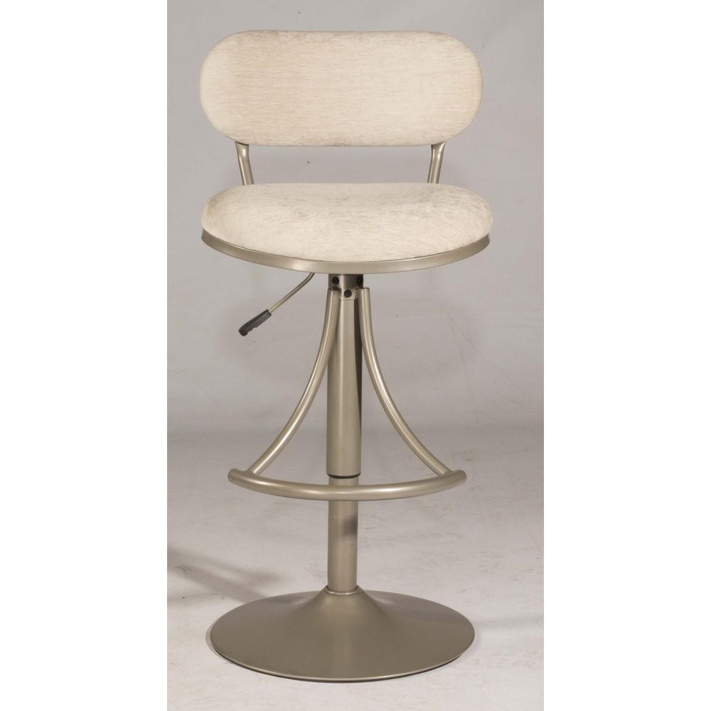 Athena Swivel Adjustable Counter Height/Bar Height Stool - Champagne Metal Finish. Picture 8