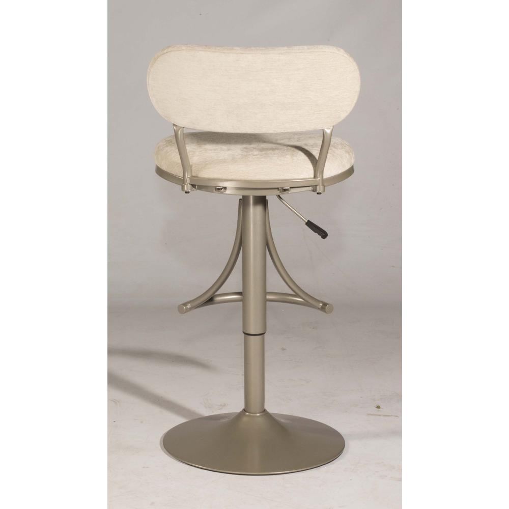 Athena Swivel Adjustable Counter Height/Bar Height Stool - Champagne Metal Finish. Picture 10