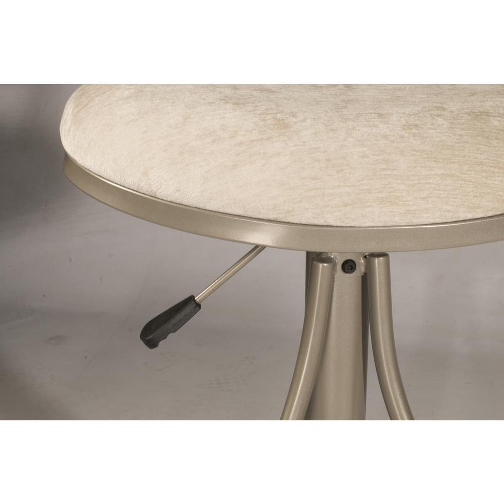 Athena Swivel Adjustable Counter Height/Bar Height Stool - Champagne Metal Finish. Picture 11