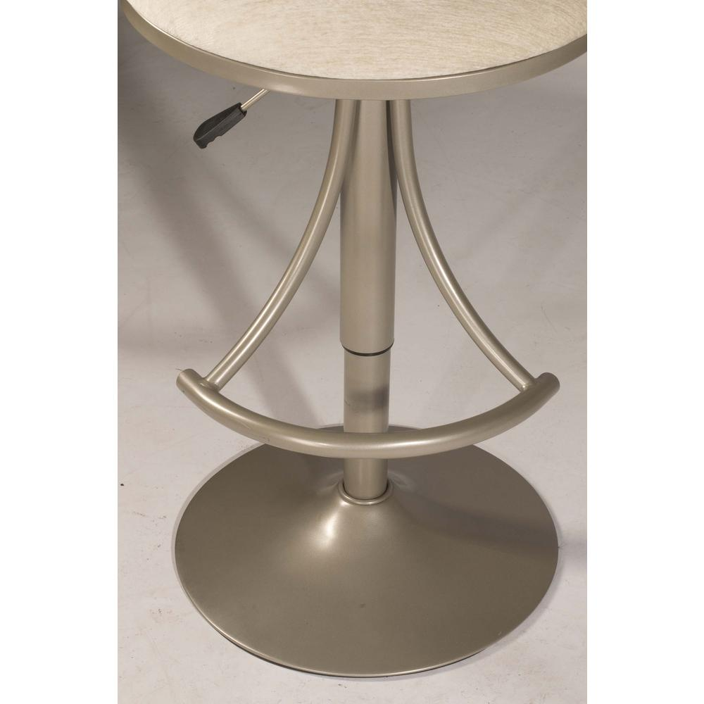 Athena Swivel Adjustable Counter Height/Bar Height Stool - Champagne Metal Finish. Picture 12