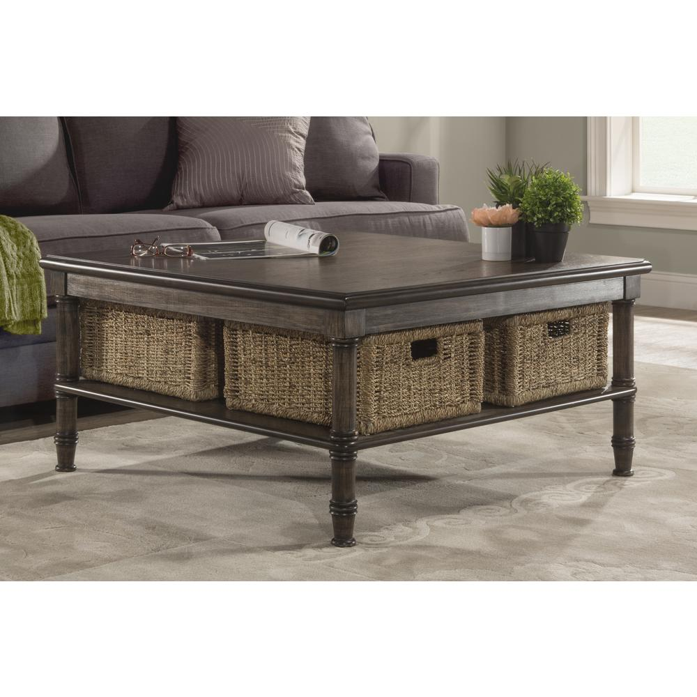 Montego Contemporary Merlot Wood Square End Table W Drawer: Seneca Coffee Table