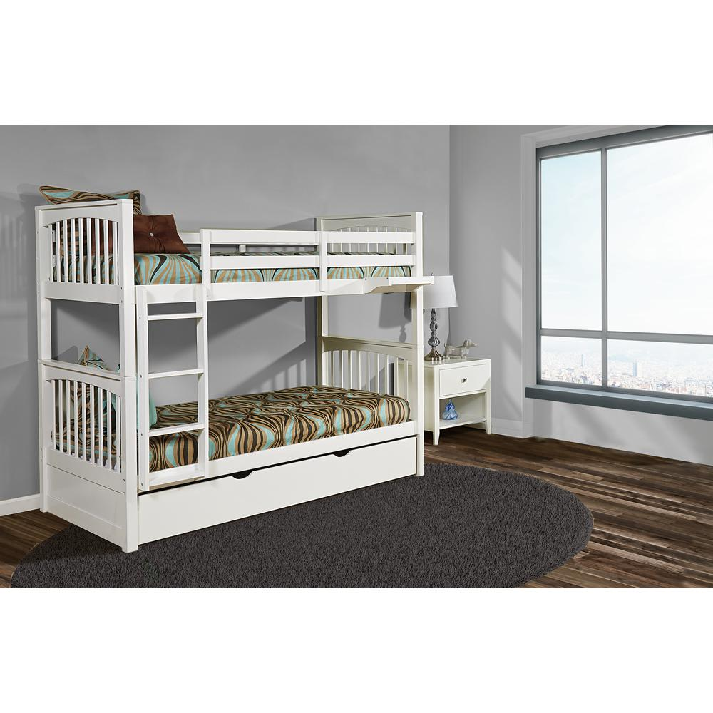 Pulse Twin Over Twin Bunk White