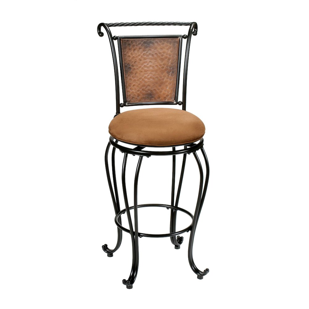 Milan Counter Stool Completely Kd Black Copper Accent