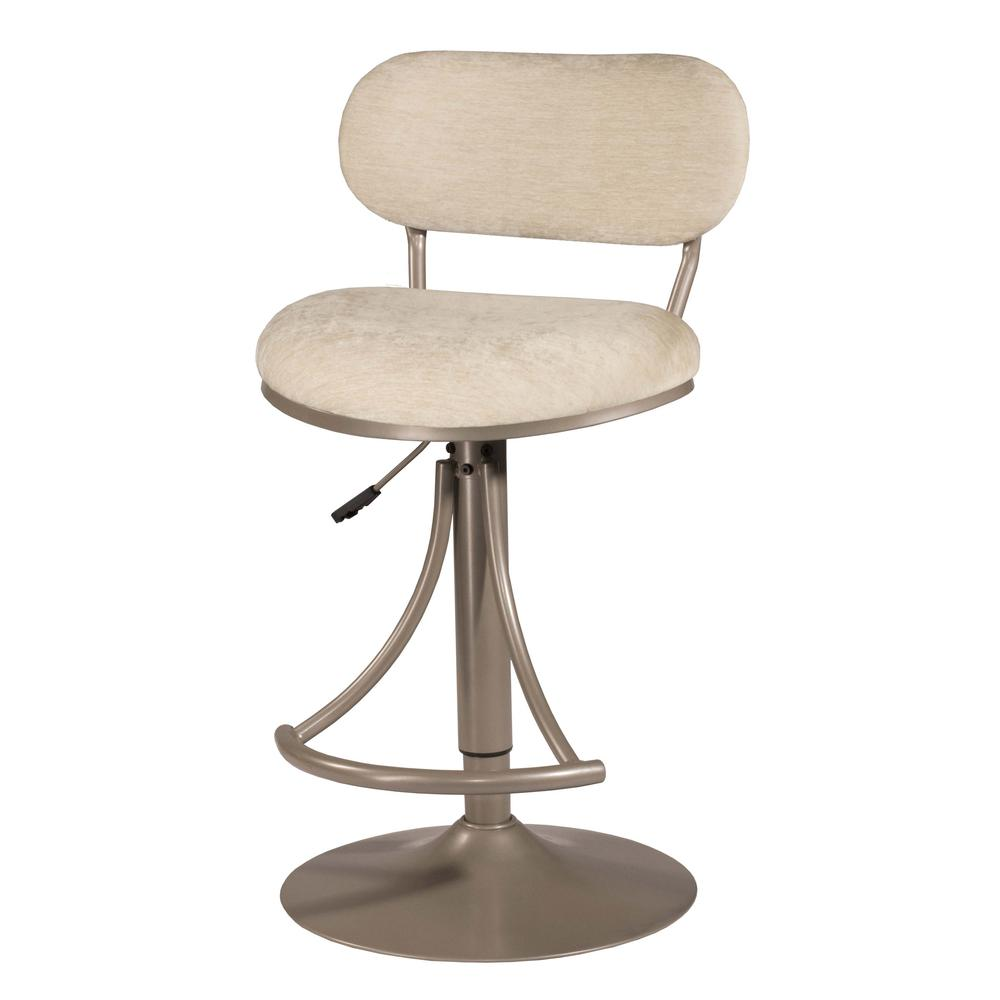 Athena Swivel Adjustable Counter Height/Bar Height Stool - Champagne Metal Finish. Picture 3
