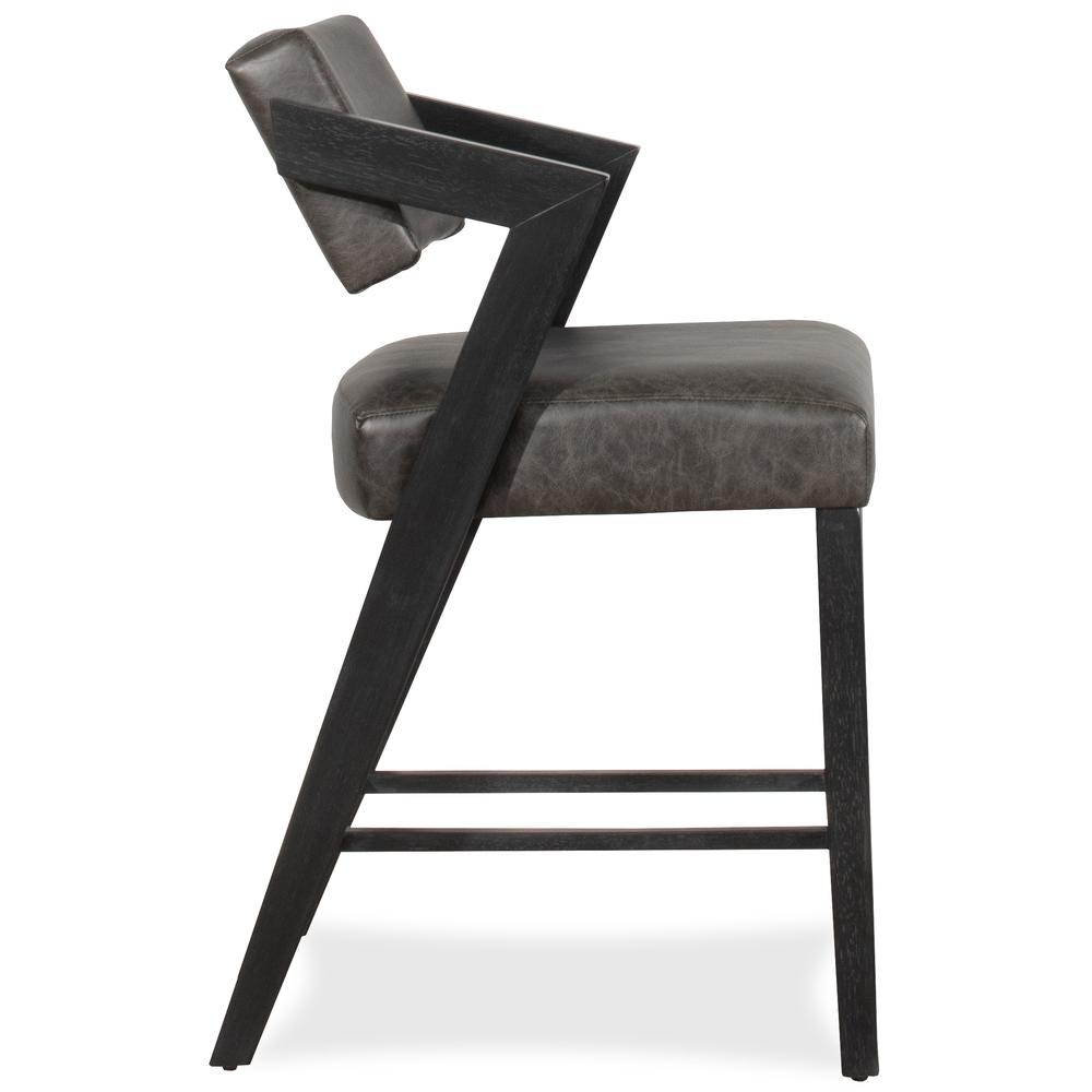 Snyder Non-Swivel Counter Height Stool, Blackwash
