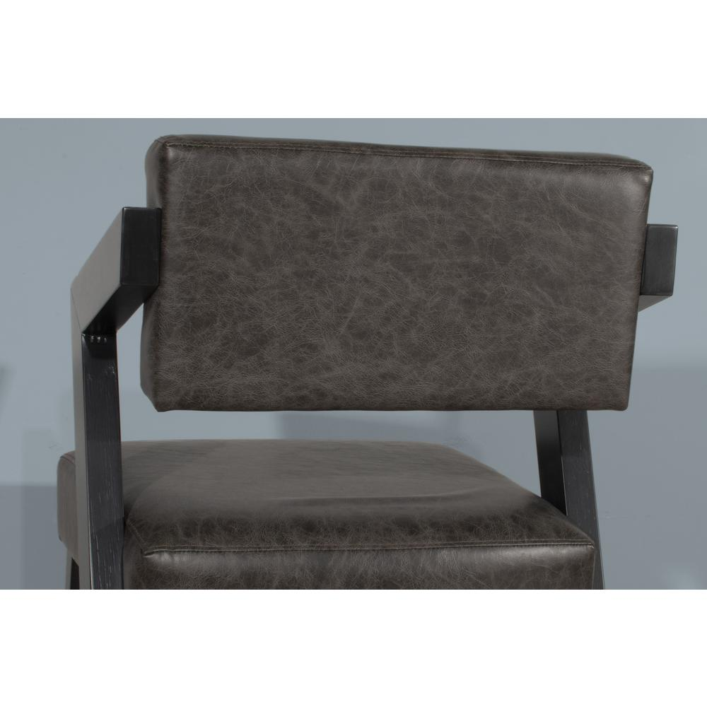 Snyder Non-Swivel Bar Height Stool, Blackwash. Picture 2