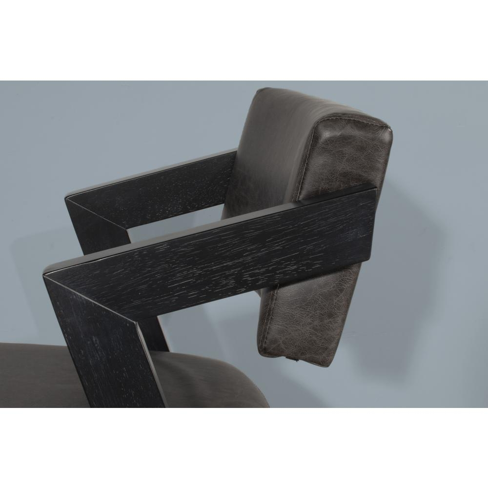 Snyder Non-Swivel Bar Height Stool, Blackwash. Picture 3
