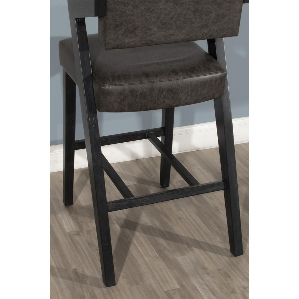 Snyder Non-Swivel Bar Height Stool, Blackwash. Picture 4