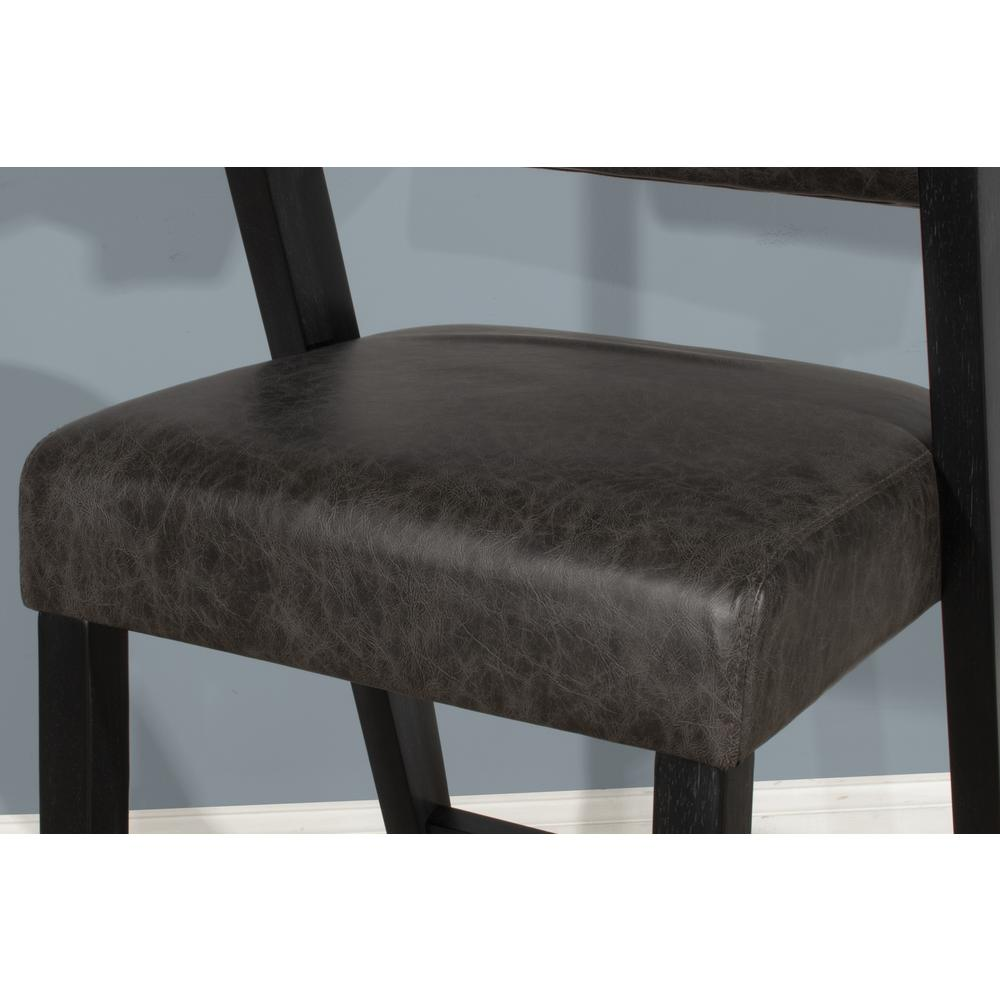 Snyder Non-Swivel Bar Height Stool, Blackwash. Picture 6