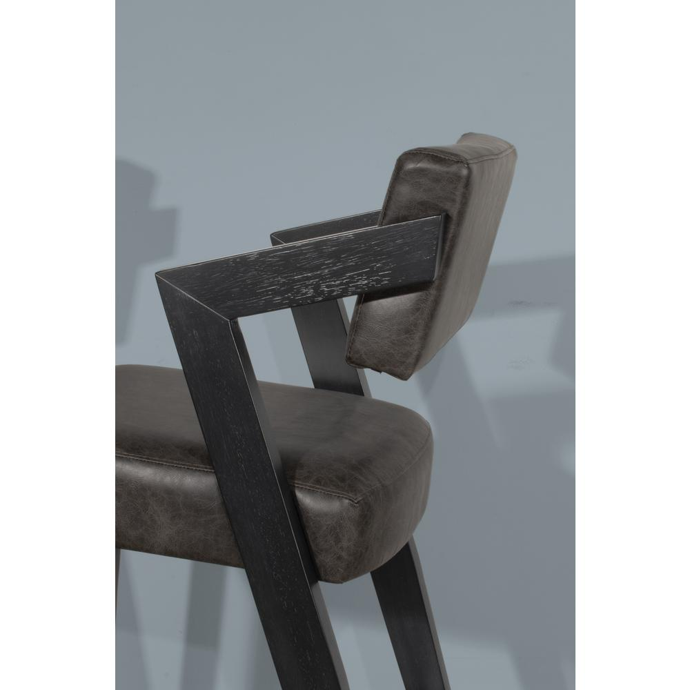 Snyder Non-Swivel Bar Height Stool, Blackwash. Picture 7