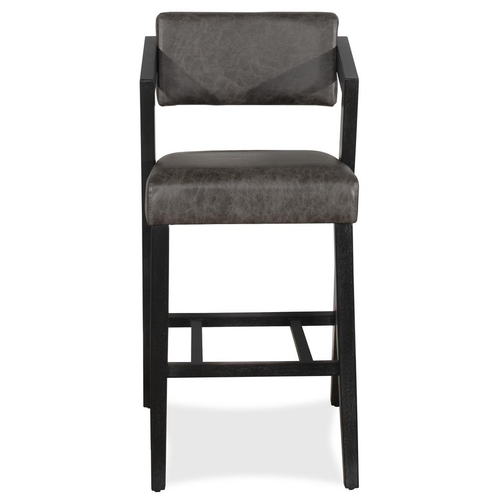 Snyder Non-Swivel Bar Height Stool, Blackwash. Picture 10