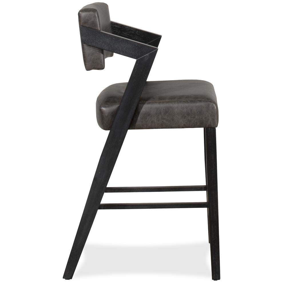 Snyder Non-Swivel Bar Height Stool, Blackwash. Picture 12