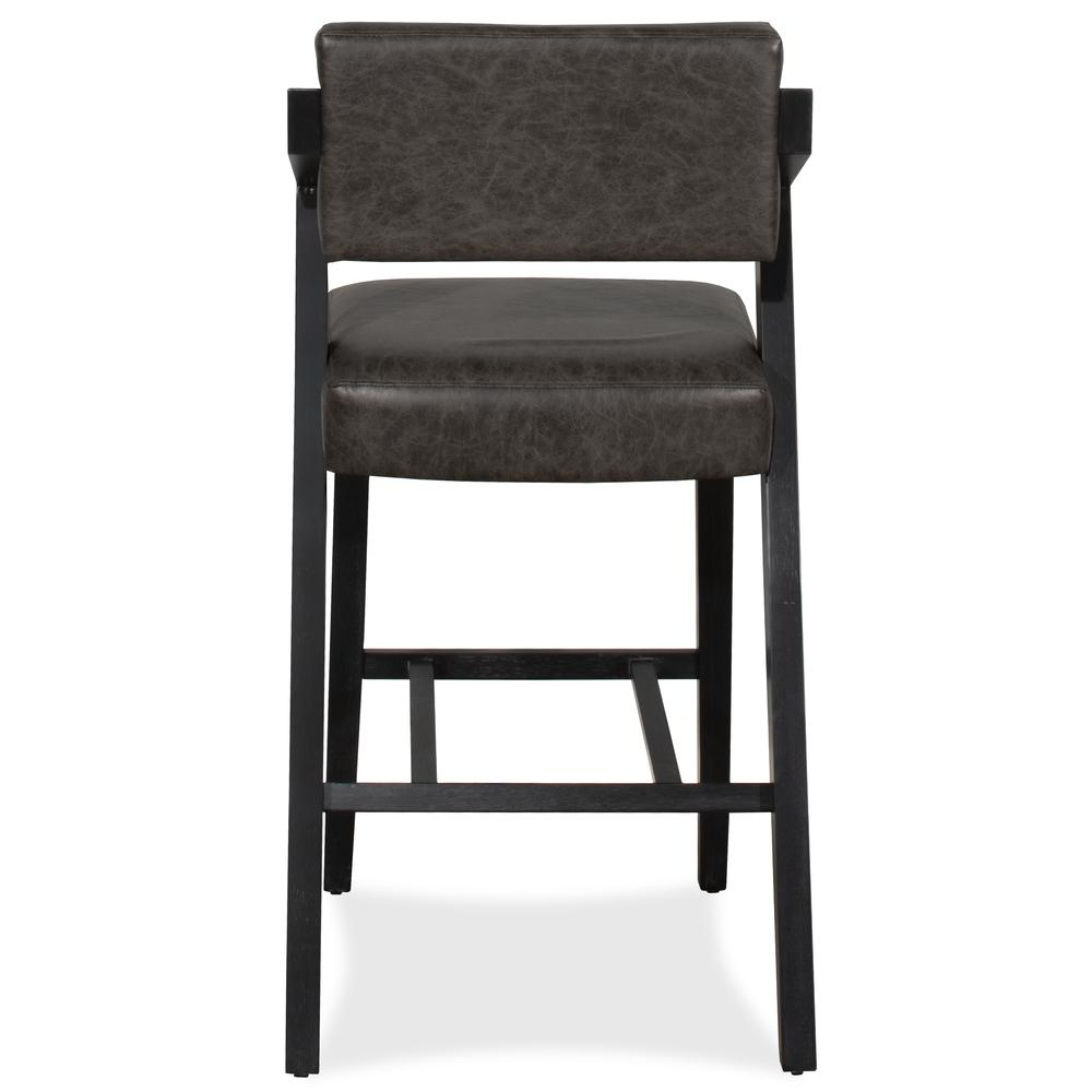 Snyder Non-Swivel Bar Height Stool, Blackwash. Picture 14