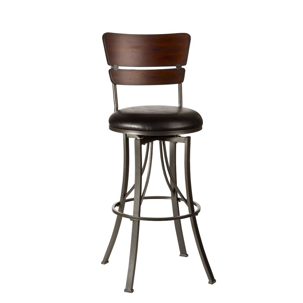 Santa Monica Swivel Counter Height Stool. Picture 1