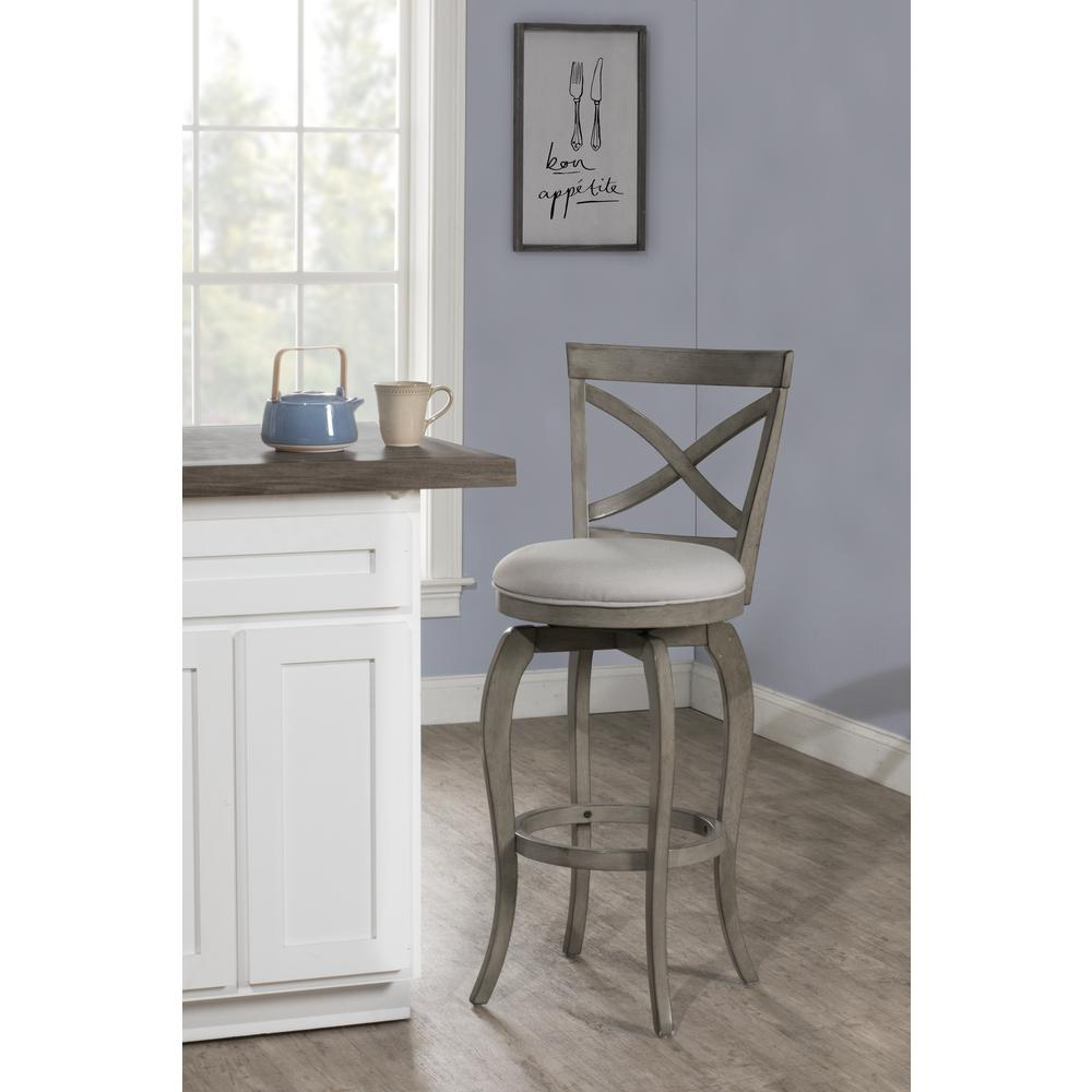 Ellendale Swivel Counter Height Stool, Aged Gray. Picture 2