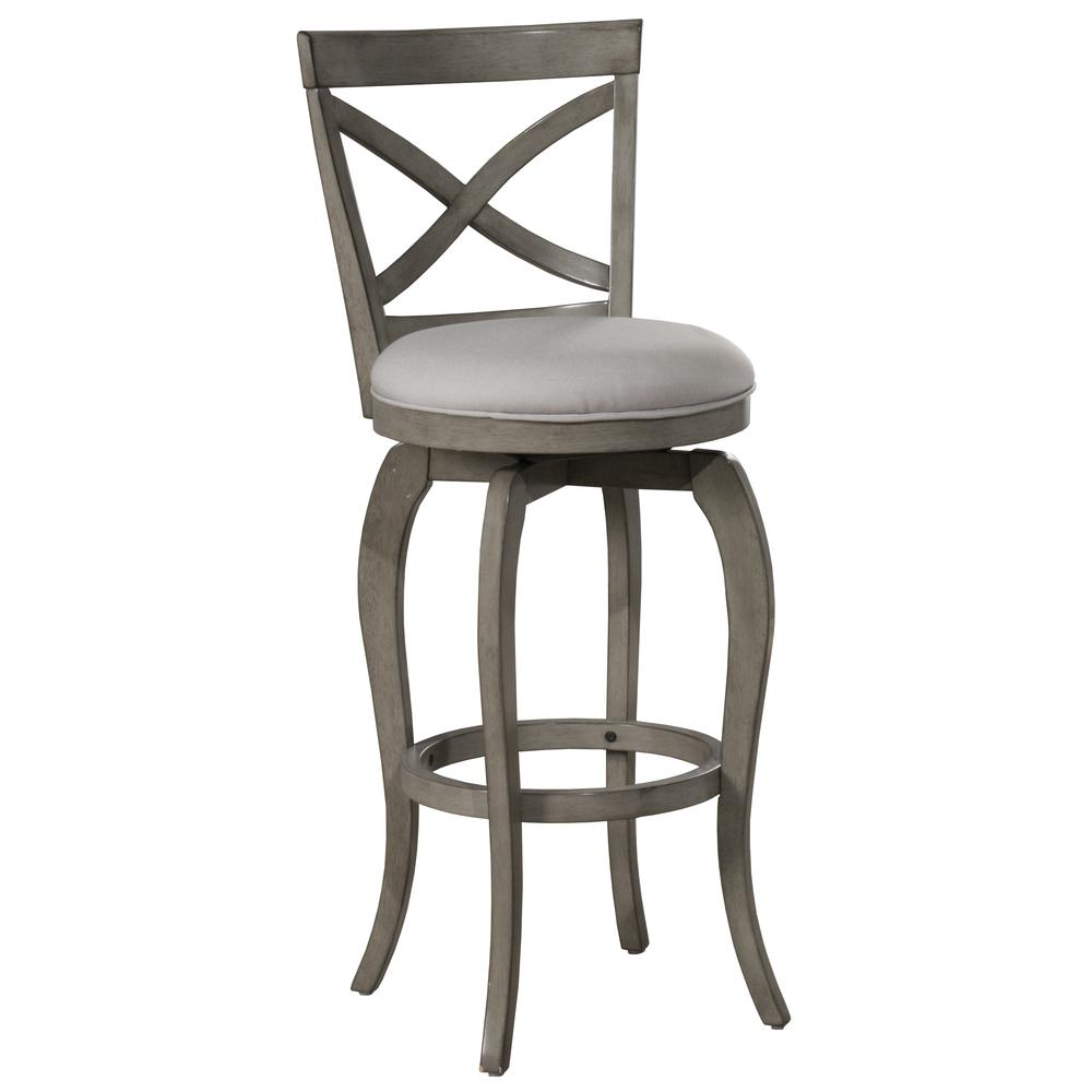 Ellendale Swivel Counter Height Stool, Aged Gray. Picture 1