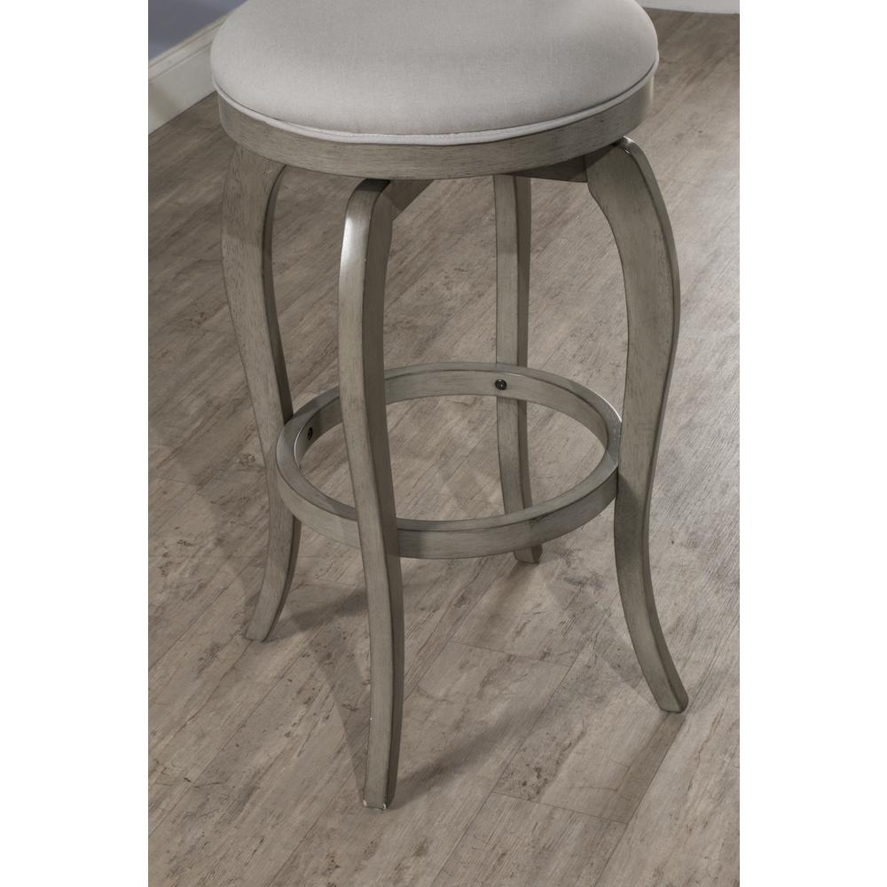 Ellendale Swivel Counter Height Stool, Aged Gray. Picture 6