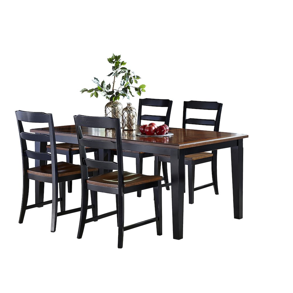 Avalon 5 Pc Dining Set Black Cherry