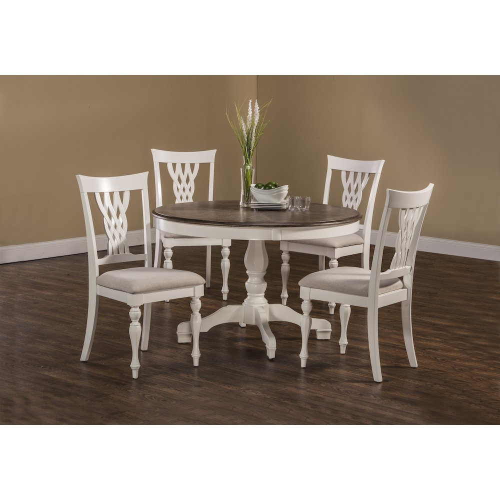 Bayberry Embassy 5 Piece Round Dining Set White