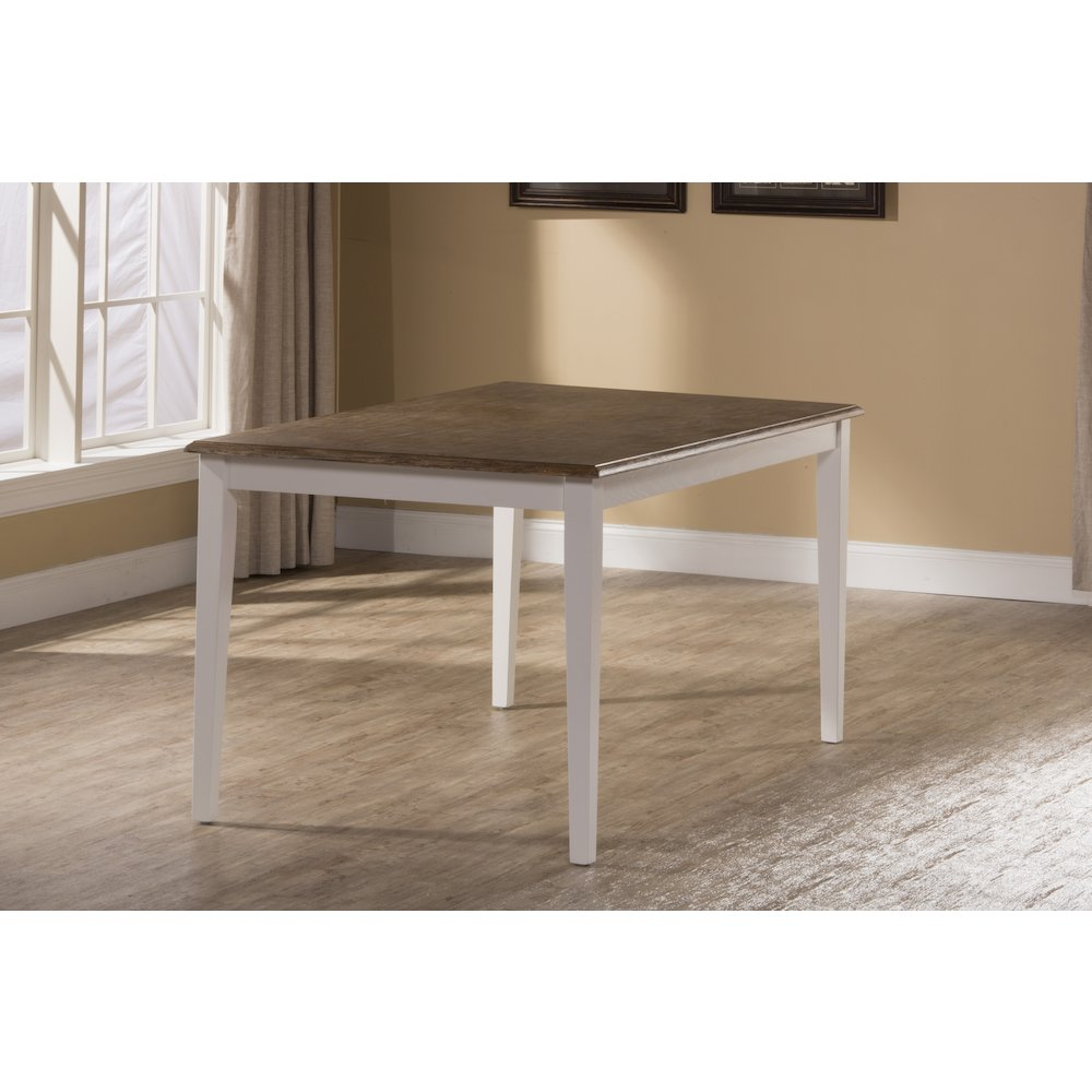 Bayberry / Embassy Rectangle Dining Table - White. Picture 1