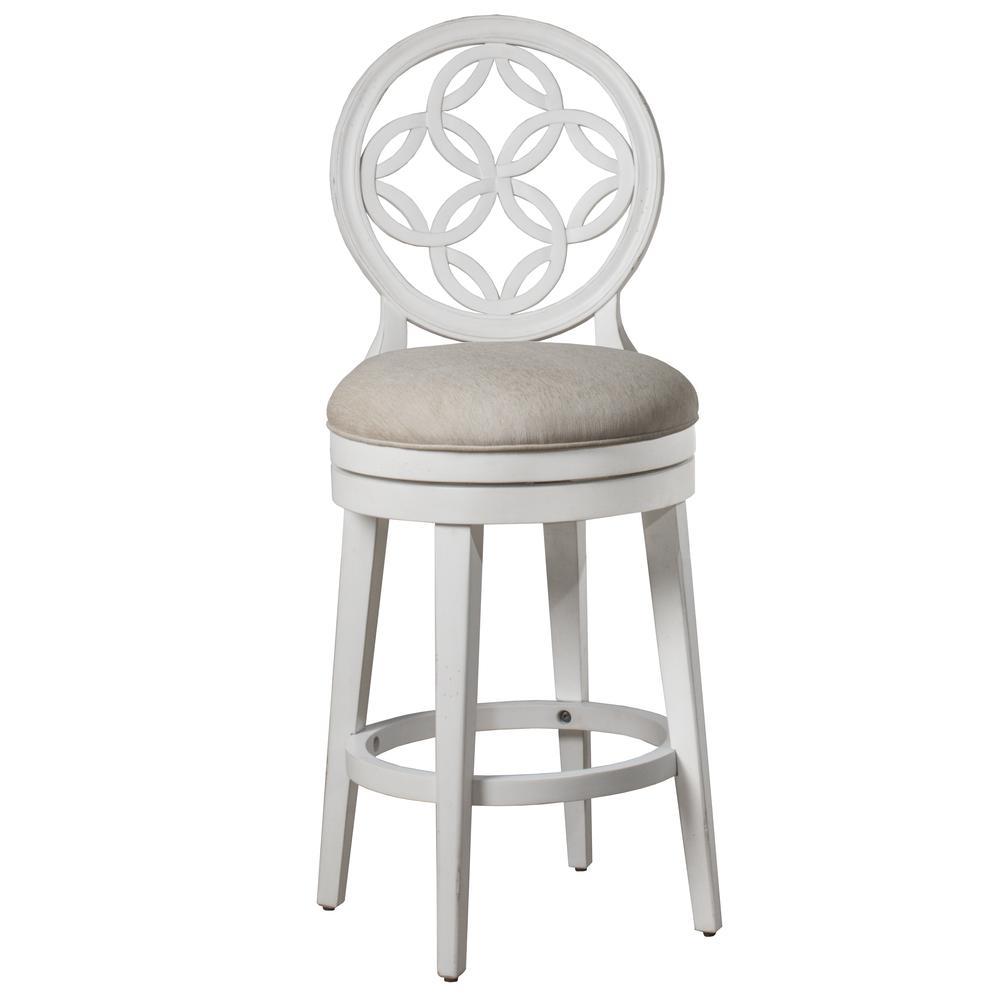 Savona Swivel Counter Height Stool, White. Picture 1